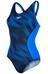 speedo Endurance+ Fit Splice Allover badpak Dames blauw/zwart